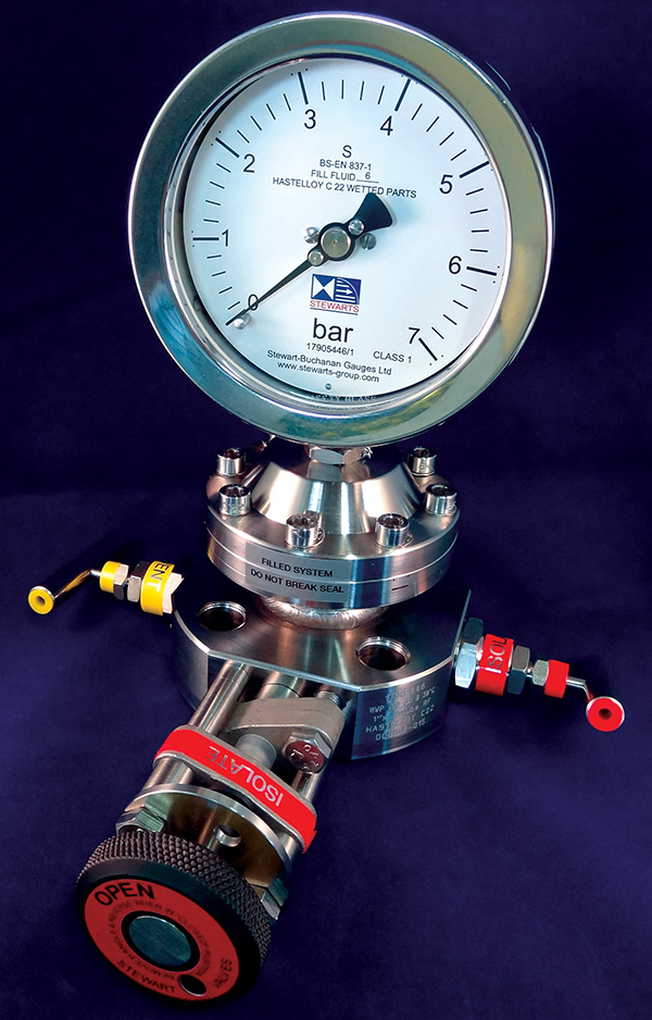 100mm Monoseal Gauge Direct Mounting Bottom Connection