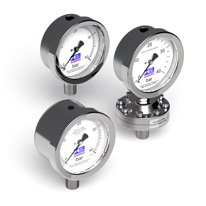 The Stewarts Group manufacture a vast range of pressure and differential pressure gauges