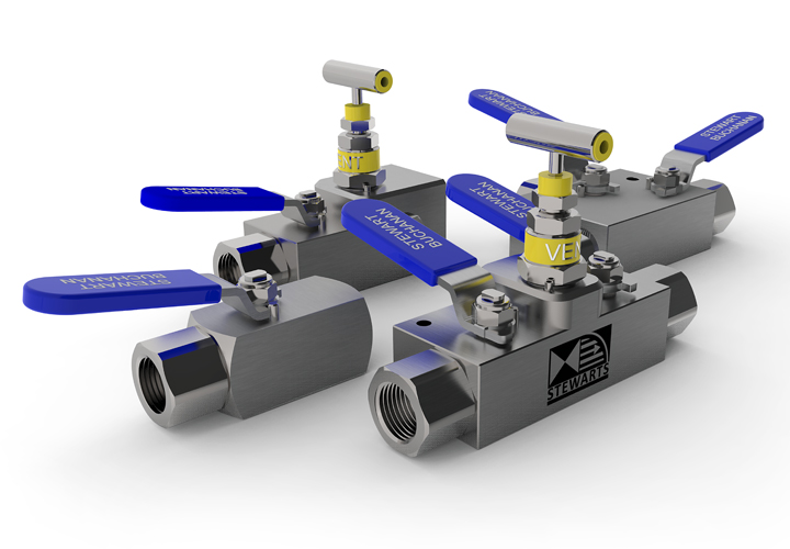 The Stewarts Group offer a variety of precision engineered high quality ball valves & manifolds