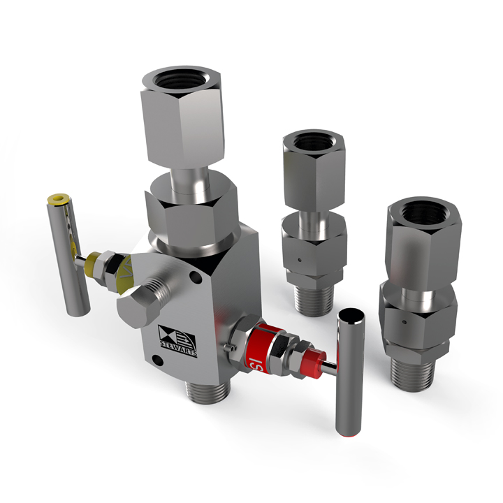 Stewarts unique SWIVADAPT® joints have been developed for the close coupling of our full range of valves, pressure gauges and accessories