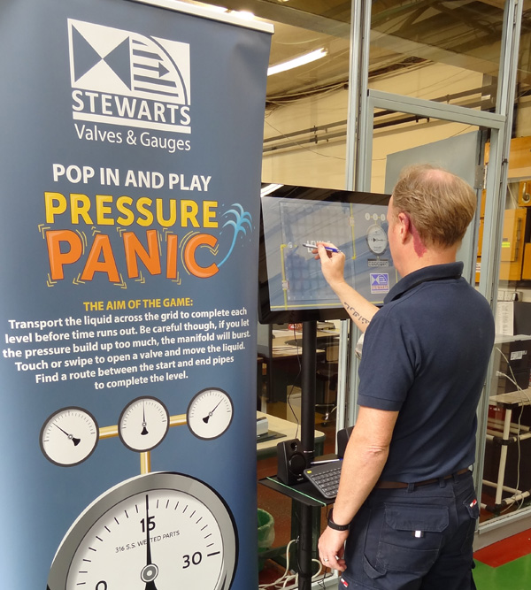 Stewarts staff had the chance to win prizes in raffle competitions, test their knowledge in the tricky Stewart-Buchanan Gauges quiz and compete in Pressure Panic - our specially designed arcade game.