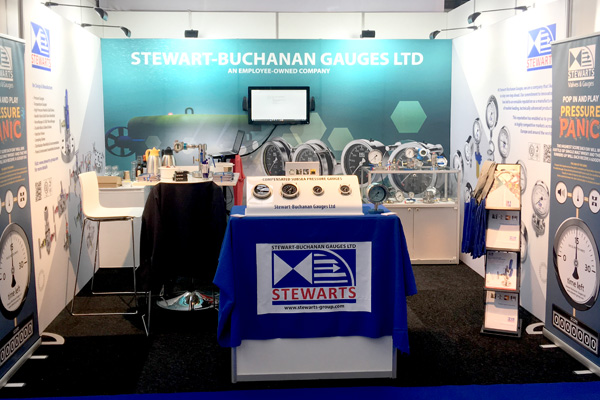 Our brand-new exhibition stand at Offshore Energy 17 - with a focus on our Subsea Pressure Gauges
