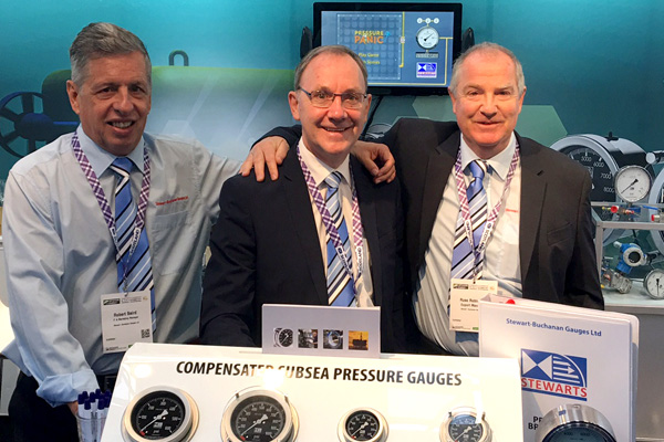 Marketing Manager - Robert Baird, Sales Director - John O'Donnell and Export Manager - Russell Robinson at Offshore Energy 17