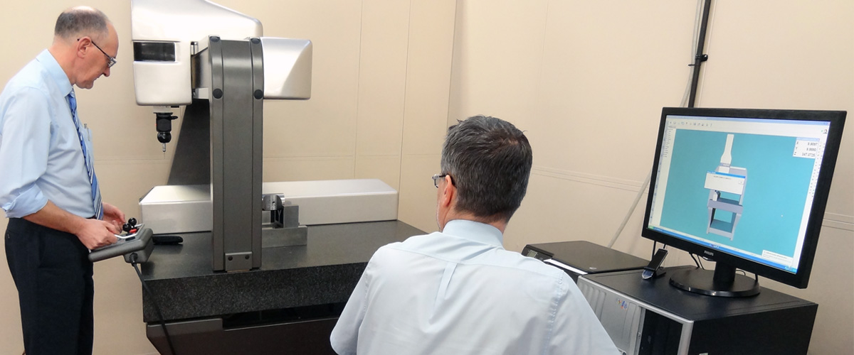 The new Co-ordinate Measuring Machine (CMM) is used to check the accuracy of the components we make against their original design.
